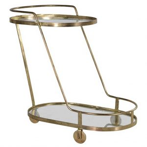 Oval angled trolley