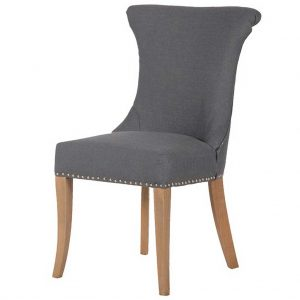 Grey ring dining chair