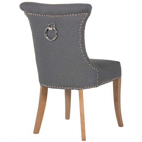 Dining Room Chairs With Metal Ring On Back