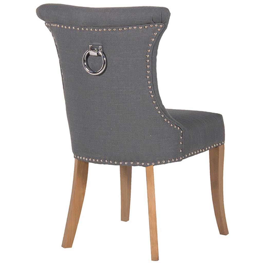 Grey ring dining chair back