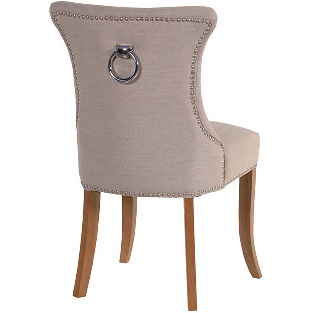 Ivory dining chair with ring back