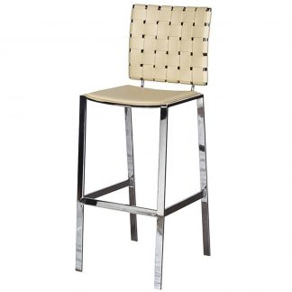 Woodward cream weave bar stool