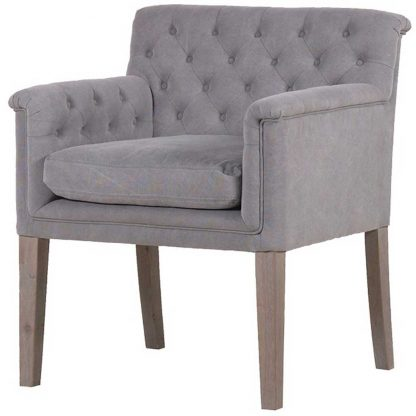 Grey Reno chair with arms