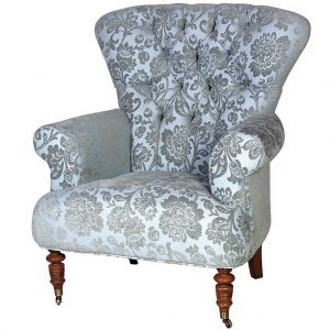 Chatsworth blue armchair