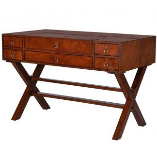 Leather trim desk