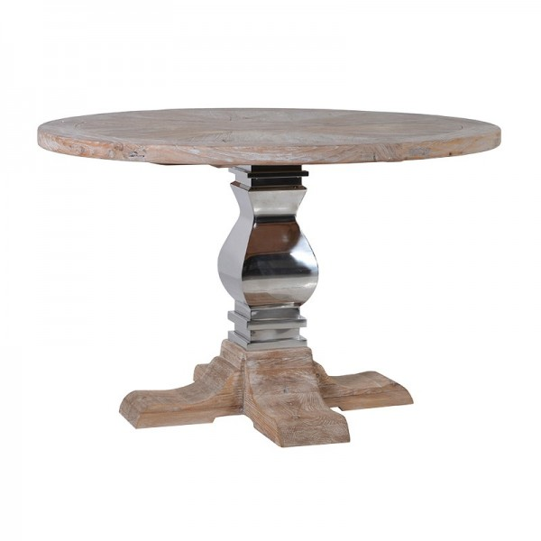 Steel base baluster table handmade kitchens in norwich for Wood balusters for tables