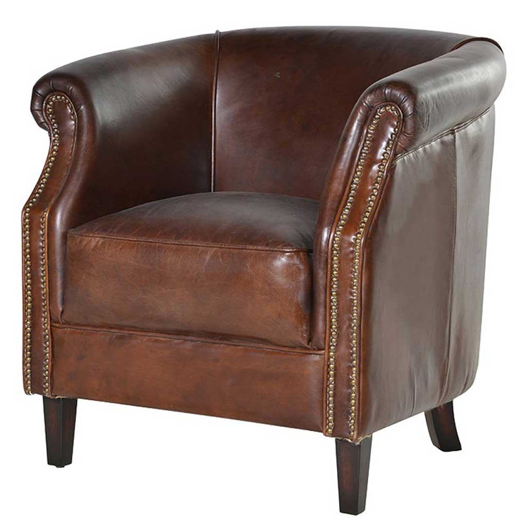 Mayfair leather armchair