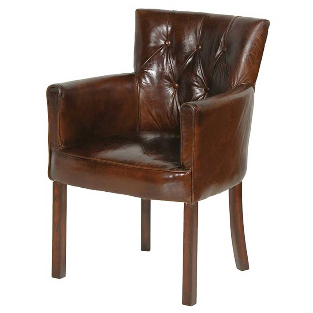Leather Bijoux club chair