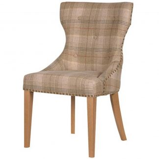 Huningford tartan dining chair