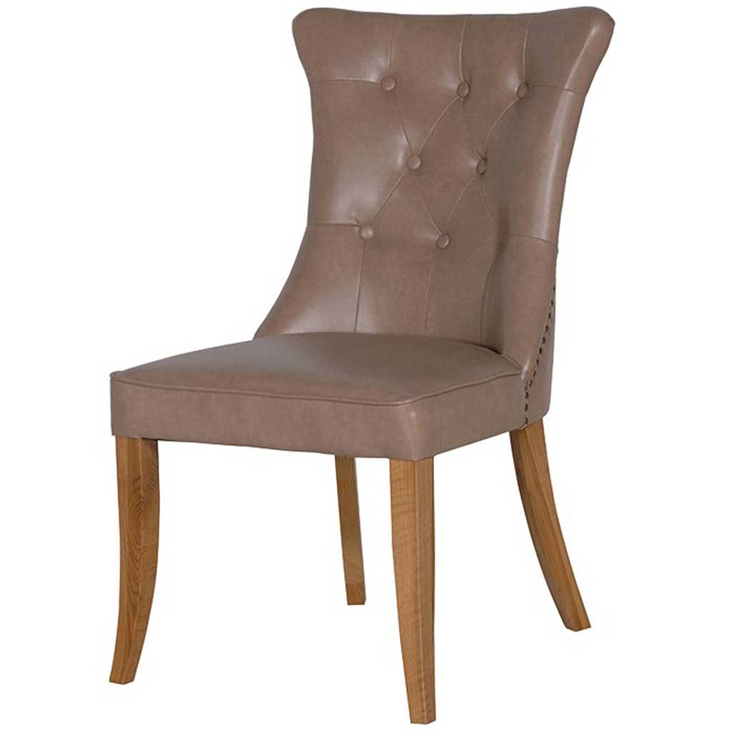 Beige ring dining chair