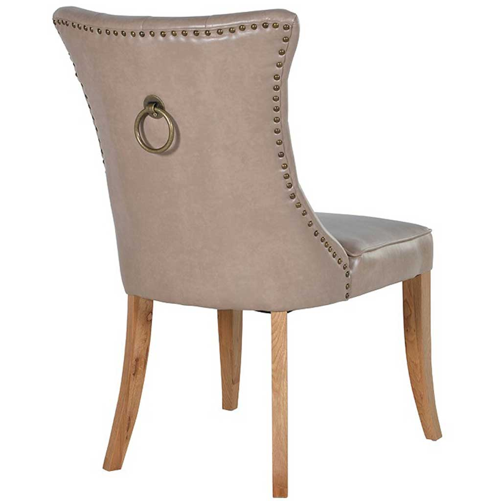 Beige ring dining chair back