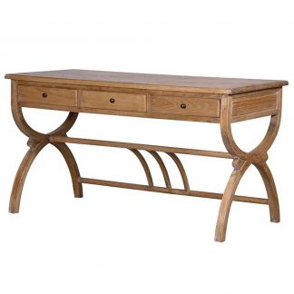 Elm writing desk