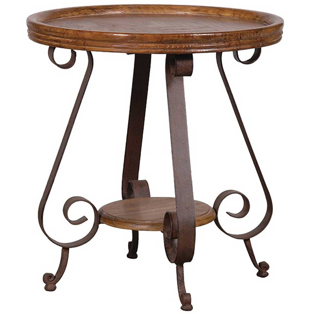 Iron base console table