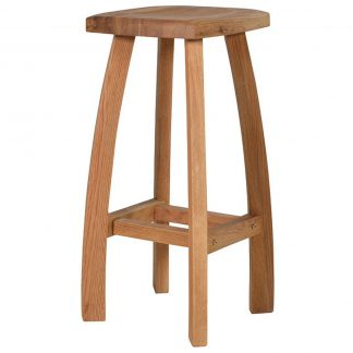 Oak curvy stool