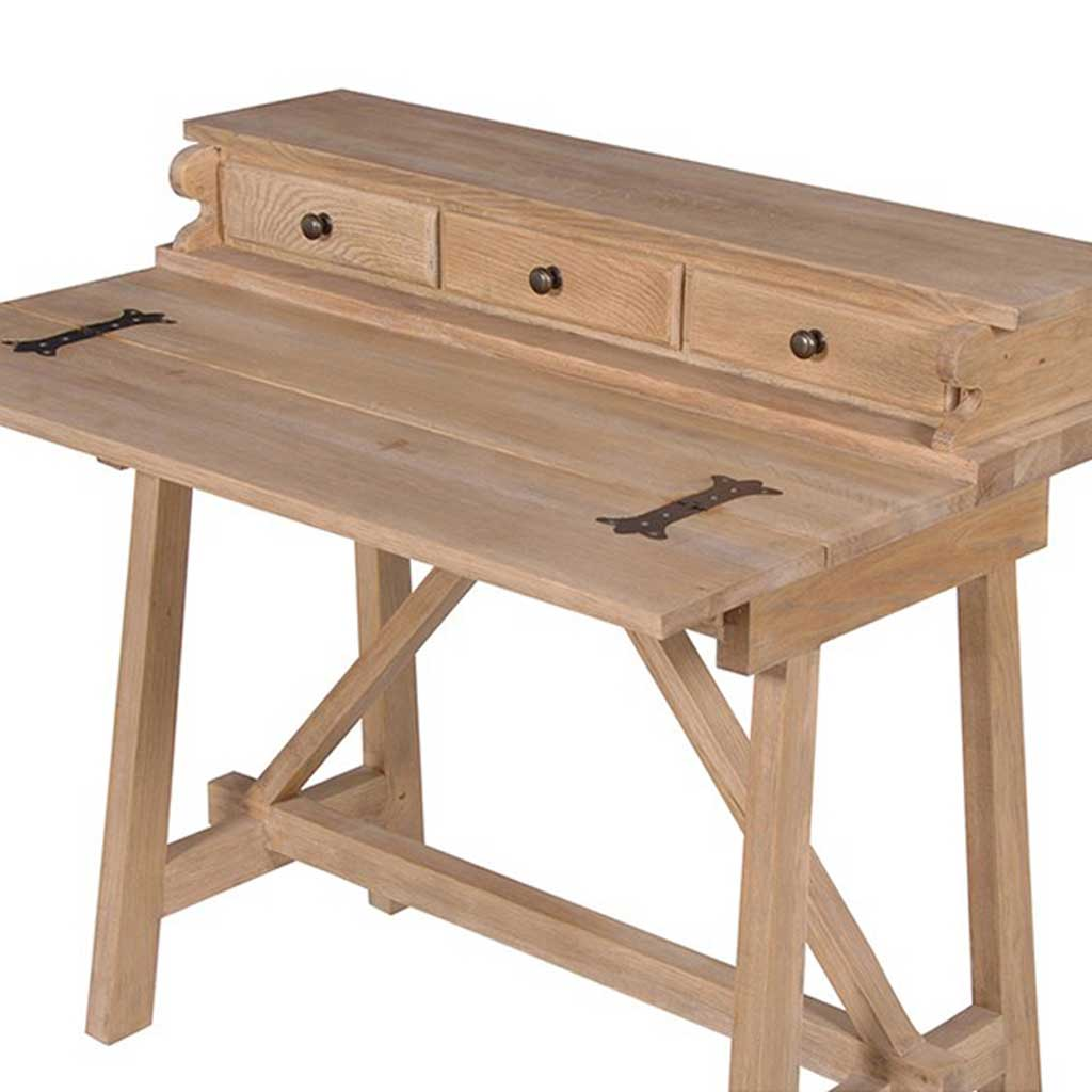 Oak foldaway top desk