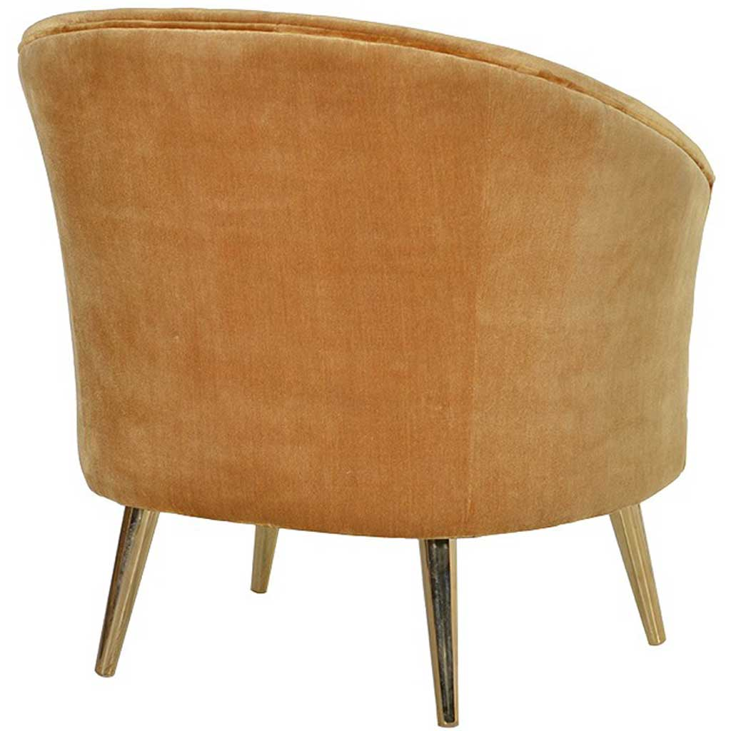 Gold curved chair back