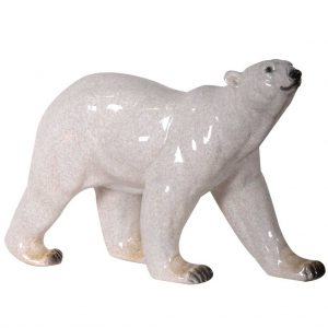Ceramic polar bear ornament