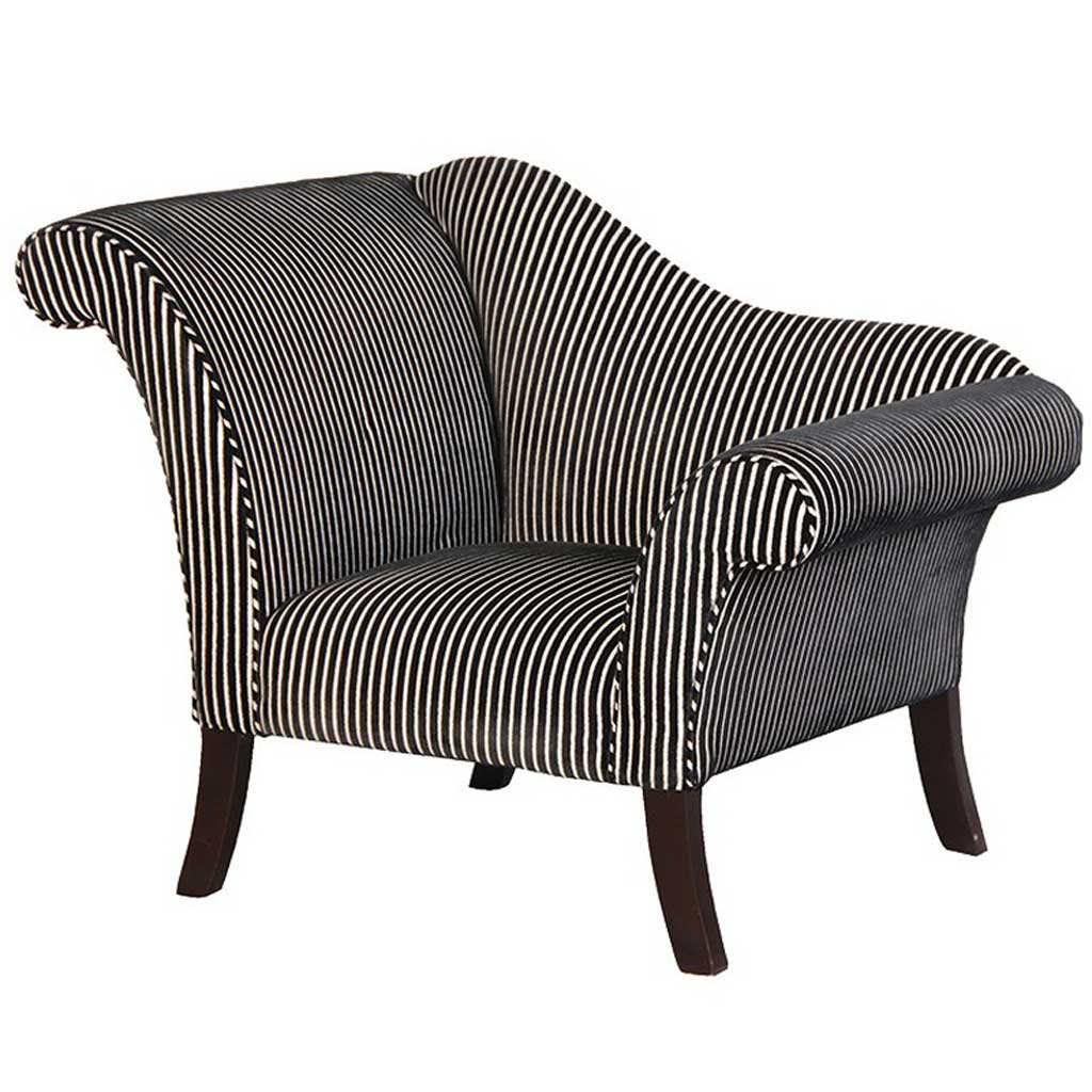Black & white striped chair
