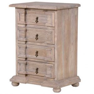 Small 4 draw bedside table