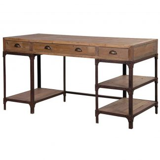 Industrial wood & metal desk