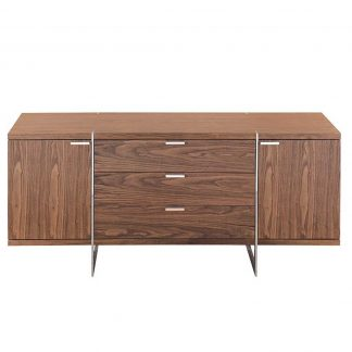 Modern walnut sideboard