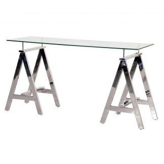Trestle console table