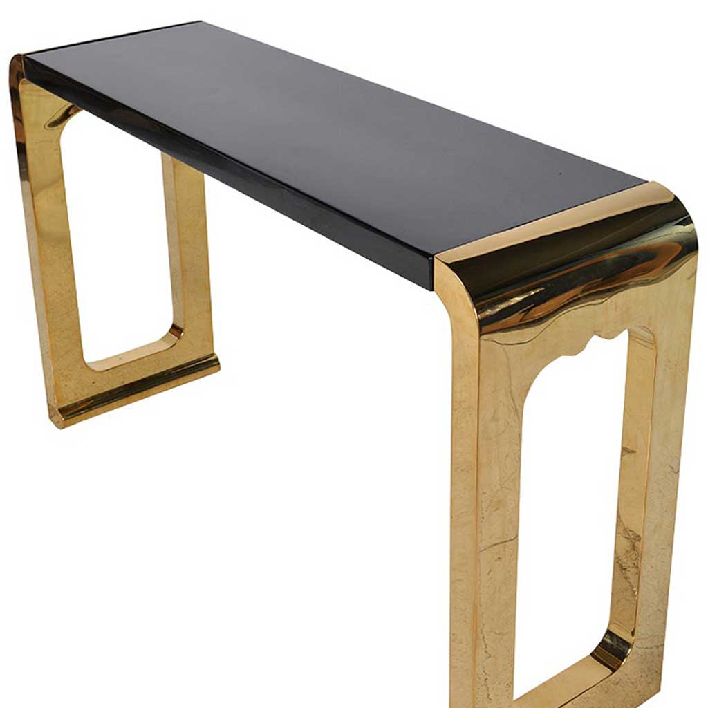Dual tone console table top