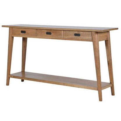 Retro oak hall table