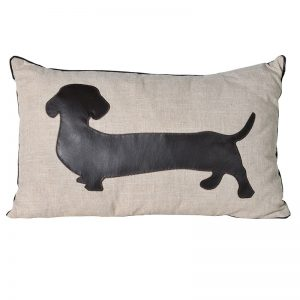 Brown Dachshund cushion