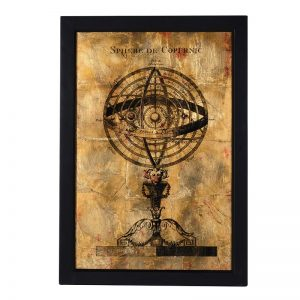 Gold armillary wall picture