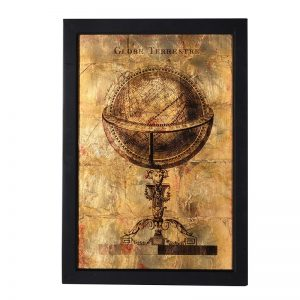 Gold globe wall picture