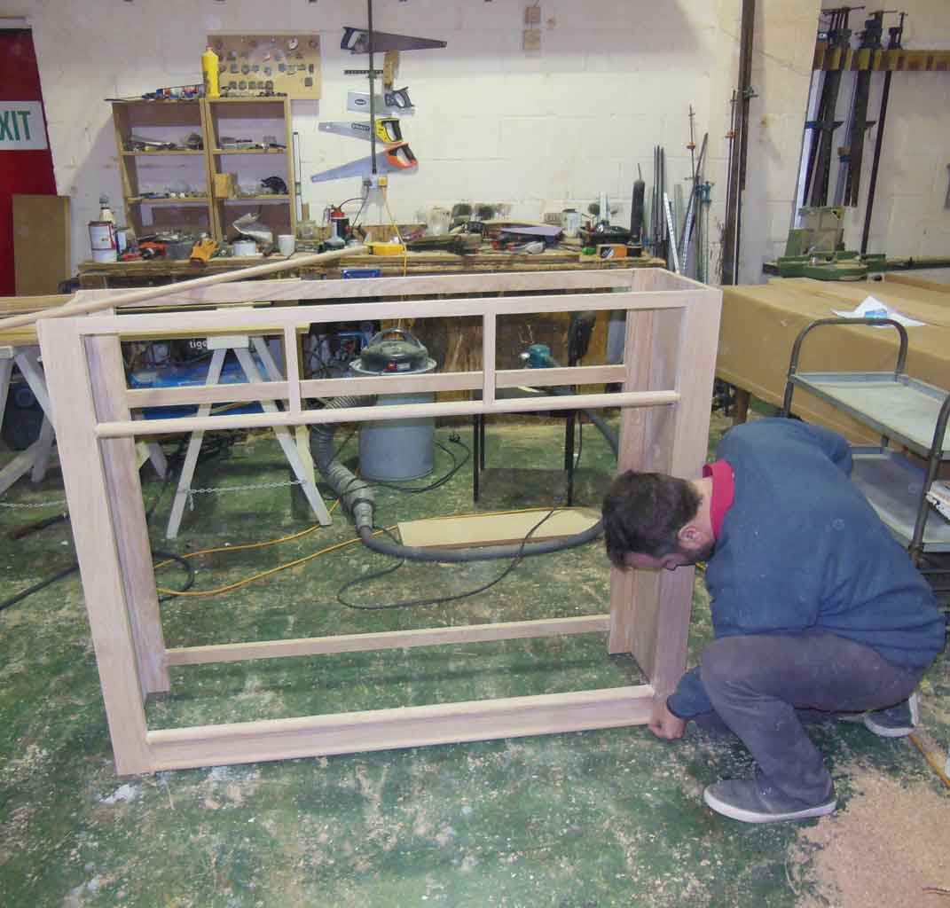 Scott Hyde making rustic oak furniture