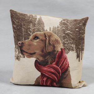 French pointer with scarf cushion