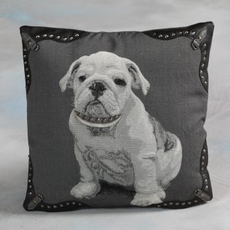Bulldog cushion with studs