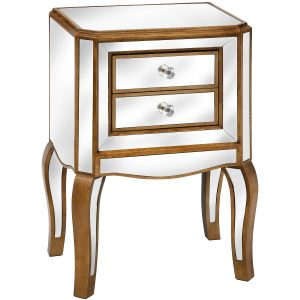 venetian two drawer side table