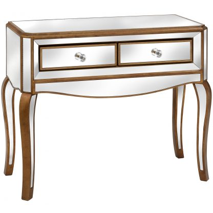 Venetian two drawer console table