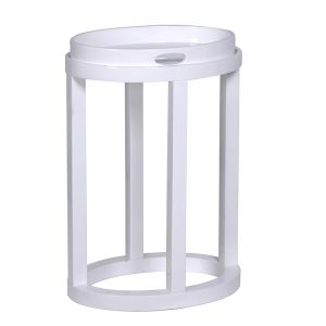 White high gloss oval tray table