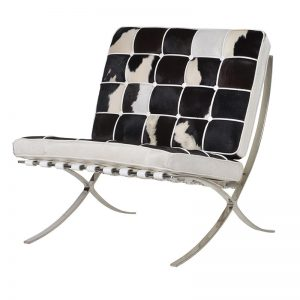Cowhide double chair