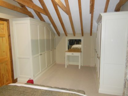 fitted painted bedroom