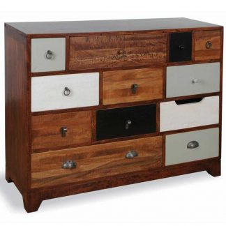 British Retro 12 drawer cherry finish chest