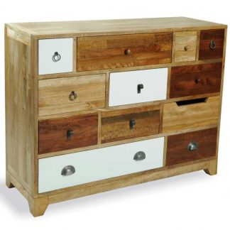 British Retro 12 drawer neutral colour chest
