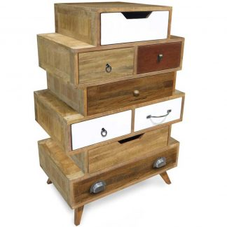 British Retro 8 drawer staggered chest