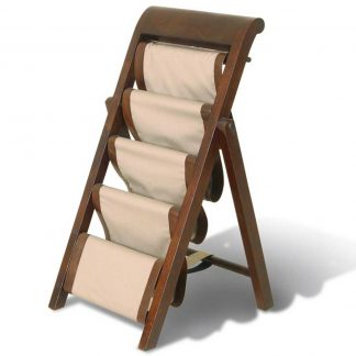 Livingstone leather folding magazine rack