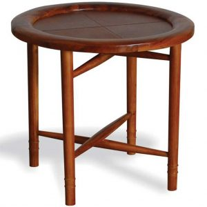 Livingstone leather side table