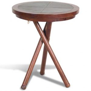 Livingstone leather low wine table